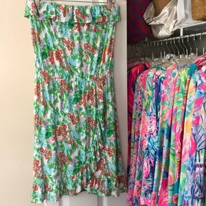 Lilly Pulitzer Flor Strapless Dress